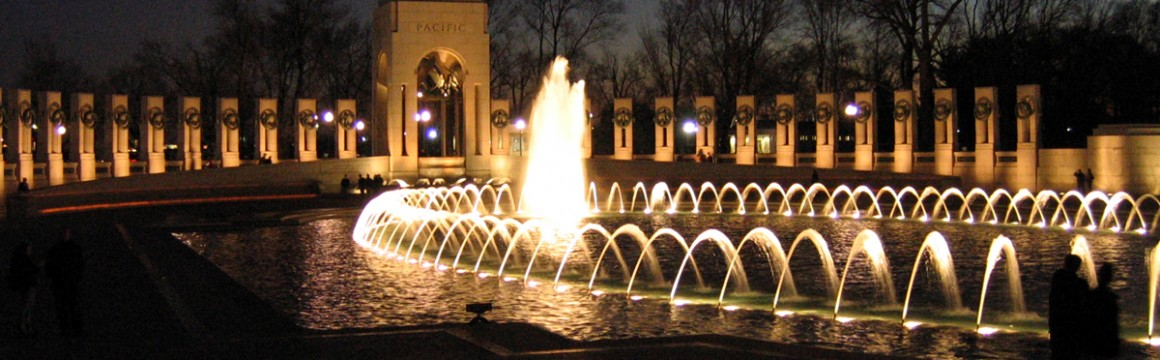 World_War_II_Memorial_at_dusk