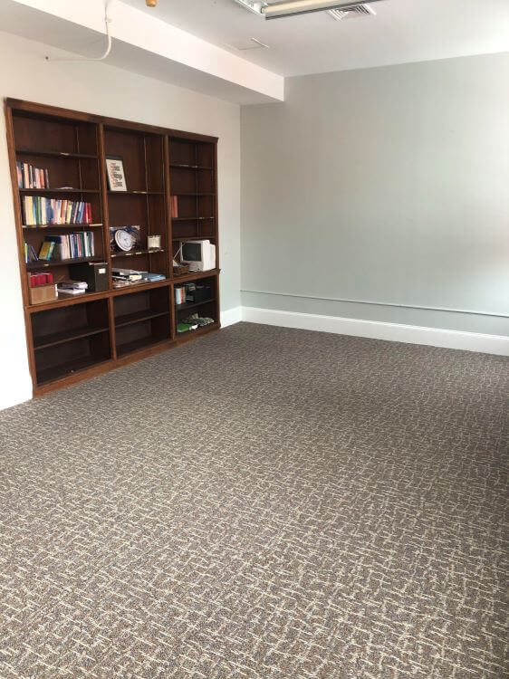 Morgan Room with new carpet.