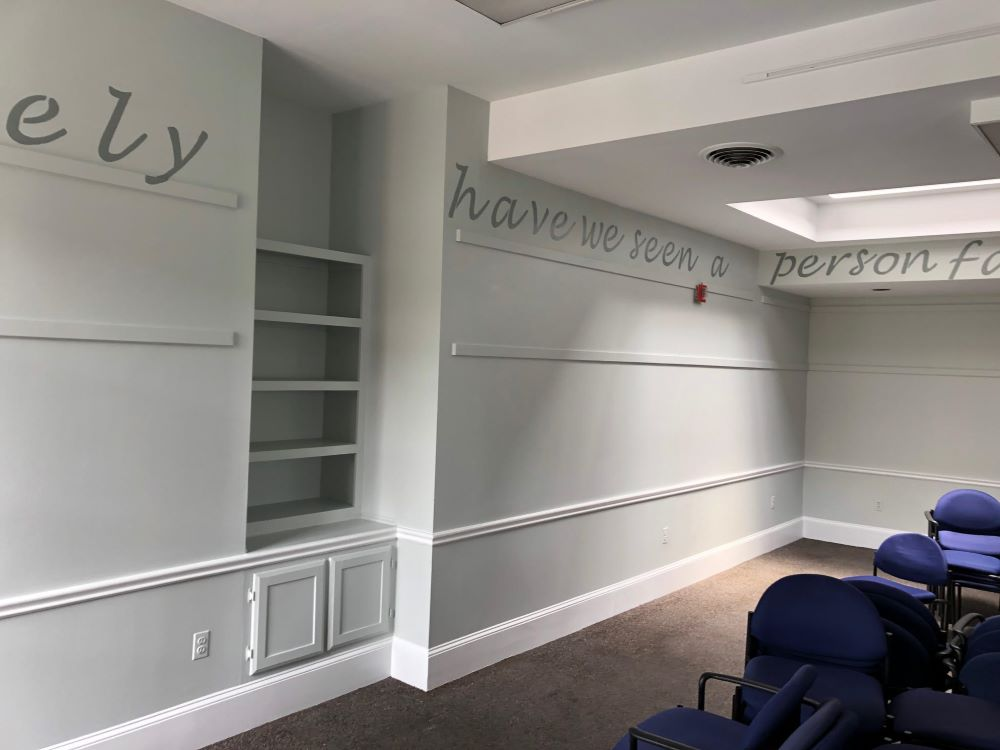 Painted wall in Carpenter Room.
